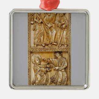 Ornamento De Metal Viagem a Emmaus e a Noli mim Tangere