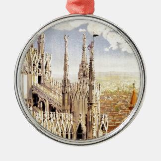 Ornamento De Metal Viagem de Milão do vintage