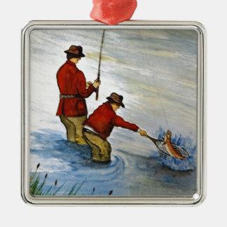 Ornamento De Metal Viagem de pesca do pai e do filho