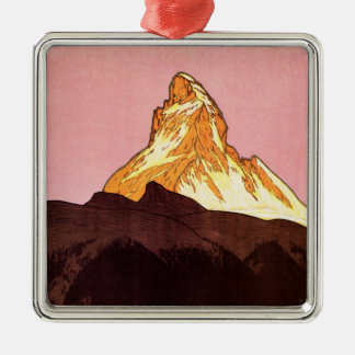 Ornamento De Metal Viagens vintage, montanha de Matterhorn, suiça
