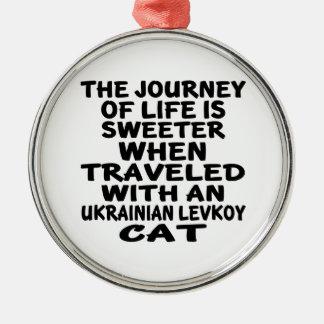 Ornamento De Metal Viajado com o gato de Levkoy do ucraniano