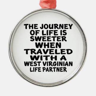 Ornamento De Metal Viajado com um sócio da vida do Virginian