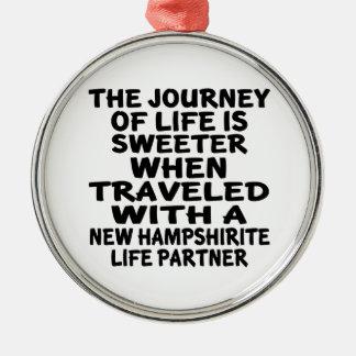 Ornamento De Metal Viajado com um sócio novo da vida de Hampshirite