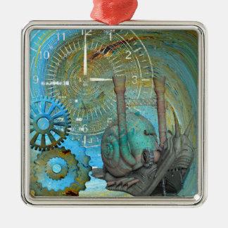 Ornamento De Metal Viajante do caracol do vapor do Aqua