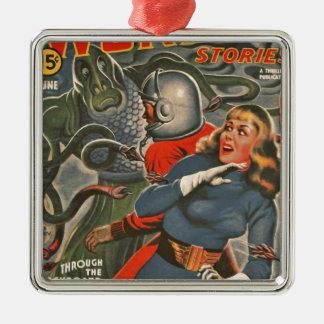 Ornamento De Metal Viajantes do espaço atacados pelo monstro do