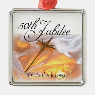 Ornamento De Metal Vida religiosa do jubileu dourado, vela
