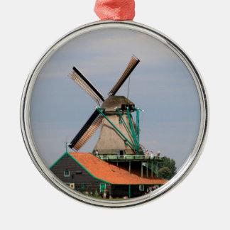 Ornamento De Metal Vila holandesa do moinho de vento, Holland 3