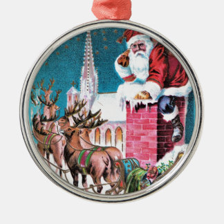 Ornamento De Metal vintage-santa-christmas-post-cards-0011