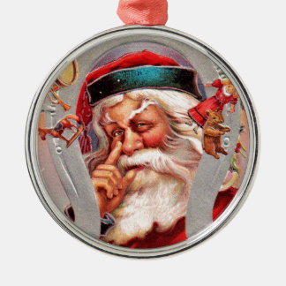 Ornamento De Metal vintage-santa-christmas-post-cards-0017
