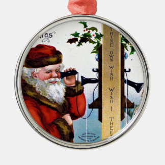 Ornamento De Metal vintage-santa-christmas-post-cards-0027