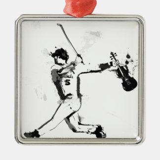 Ornamento De Metal Violinista do basebol
