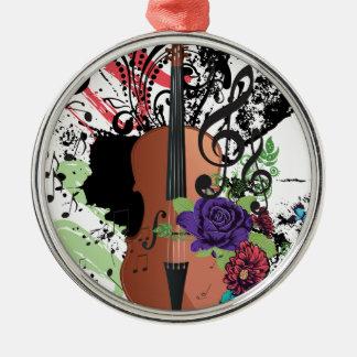 Ornamento De Metal Violino Illustration2 do Grunge