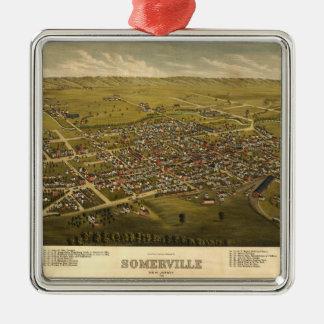 Ornamento De Metal Vista aérea de Somerville, New-jersey (1882)