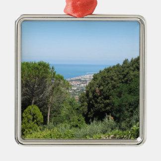 Ornamento De Metal Vista aérea panorâmico da cidade de Livorno