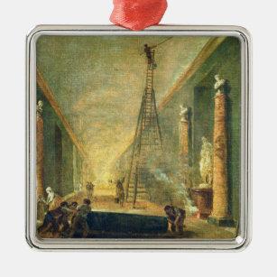 Ornamento De Metal Vista da galeria grande do Louvre