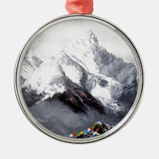 Ornamento De Metal Vista panorâmica da montanha de Everest