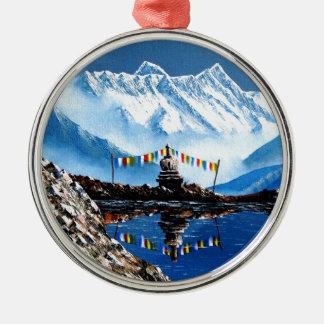 Ornamento De Metal Vista panorâmica da montanha Nepal de Annapurna