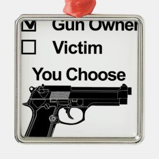 Ornamento De Metal vítima que do proprietário de arma você escolhe