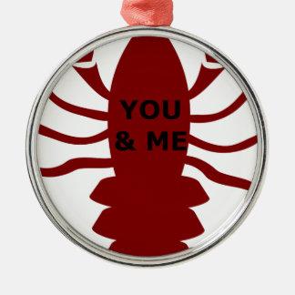 Ornamento De Metal Você & eu são lagostas
