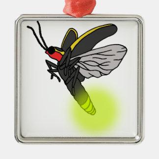 Ornamento De Metal vôo 2 do inseto de relâmpago iluminado