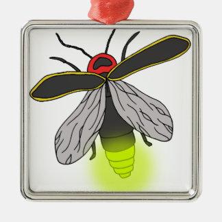 Ornamento De Metal vôo do inseto de relâmpago iluminado
