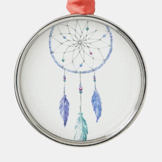 Ornamento De Metal Watercolour Dreamcatcher com 3 penas