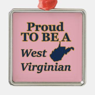 Ornamento De Metal West Virginia, orgulhoso ser um Virginian