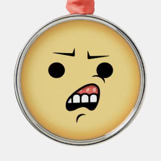 Ornamento De Metal WTF Emoji