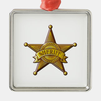 Ornamento De Metal Xerife