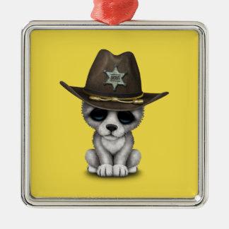 Ornamento De Metal Xerife bonito do lobo do bebê