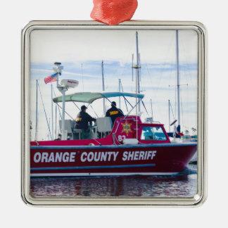 Ornamento De Metal Xerife do Condado de Orange