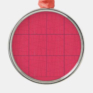 Ornamento De Metal Ziguezague cor-de-rosa dos elementos do design