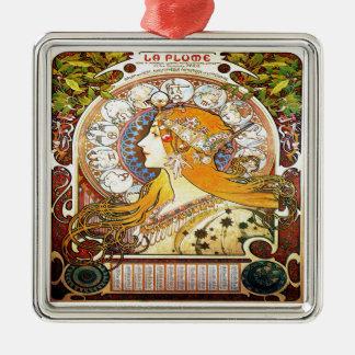 Ornamento De Metal Zodíaco 1896 de Alfons Mucha