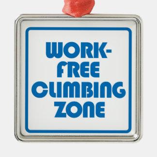 Ornamento De Metal Zona de escalada livre do trabalho