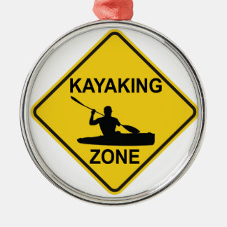 Ornamento De Metal Zona Kayaking