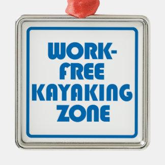 Ornamento De Metal Zona Kayaking livre do trabalho