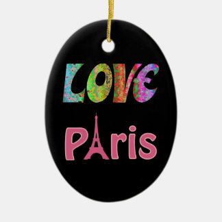 Ornamento de Paris do amor