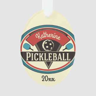 Ornamento de Pickleball - design do vintage