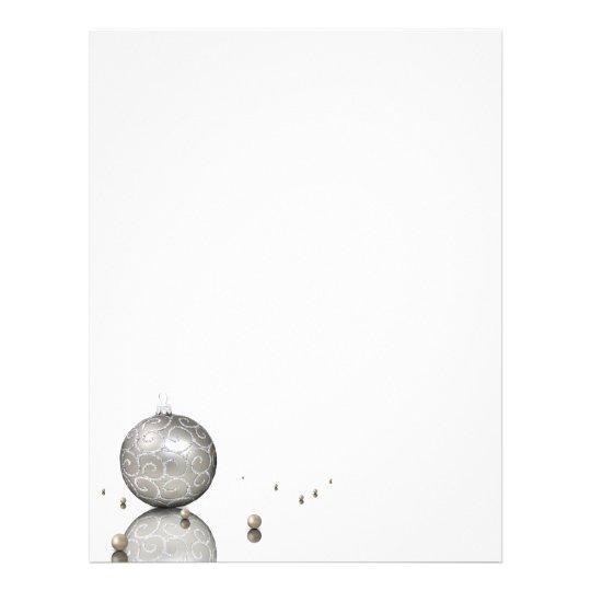 Ornamento de prata elegante do brilho - cabeçalho papel timbrado