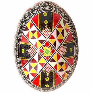 Ornamento de Pysanky (ovo da páscoa ucraniano) Fotoesculturas