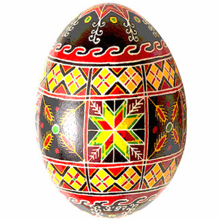 Ornamento de Pysanky (ovo da páscoa ucraniano) Escultura De Fotos