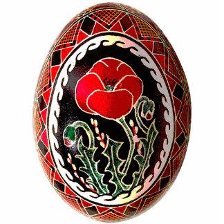 Ornamento de Pysanky (ovo da páscoa ucraniano) Escultura Foto