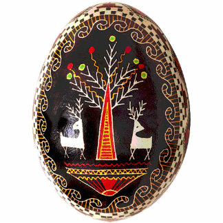 Ornamento de Pysanky (ovo da páscoa ucraniano) Fotoescultura