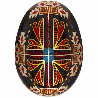 Ornamento de Pysanky (ovo da páscoa ucraniano) Esculturafotos