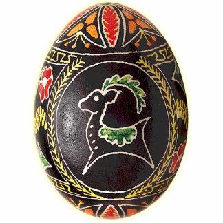Ornamento de Pysanky (ovo da páscoa ucraniano) Esculturafoto