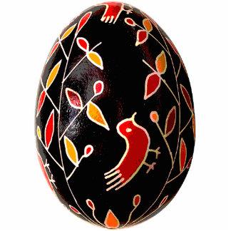 Ornamento de Pysanky (ovo da páscoa ucraniano) Foto Escultura