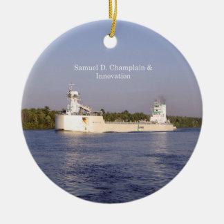 Ornamento de Samuel D. Champlain & de inovação