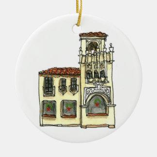 Ornamento de San Carlos Califórnia - construção da