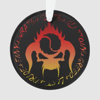 Ornamento de sete pecados mortais
