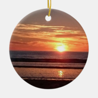 Ornamento de suspensão do círculo do por do sol